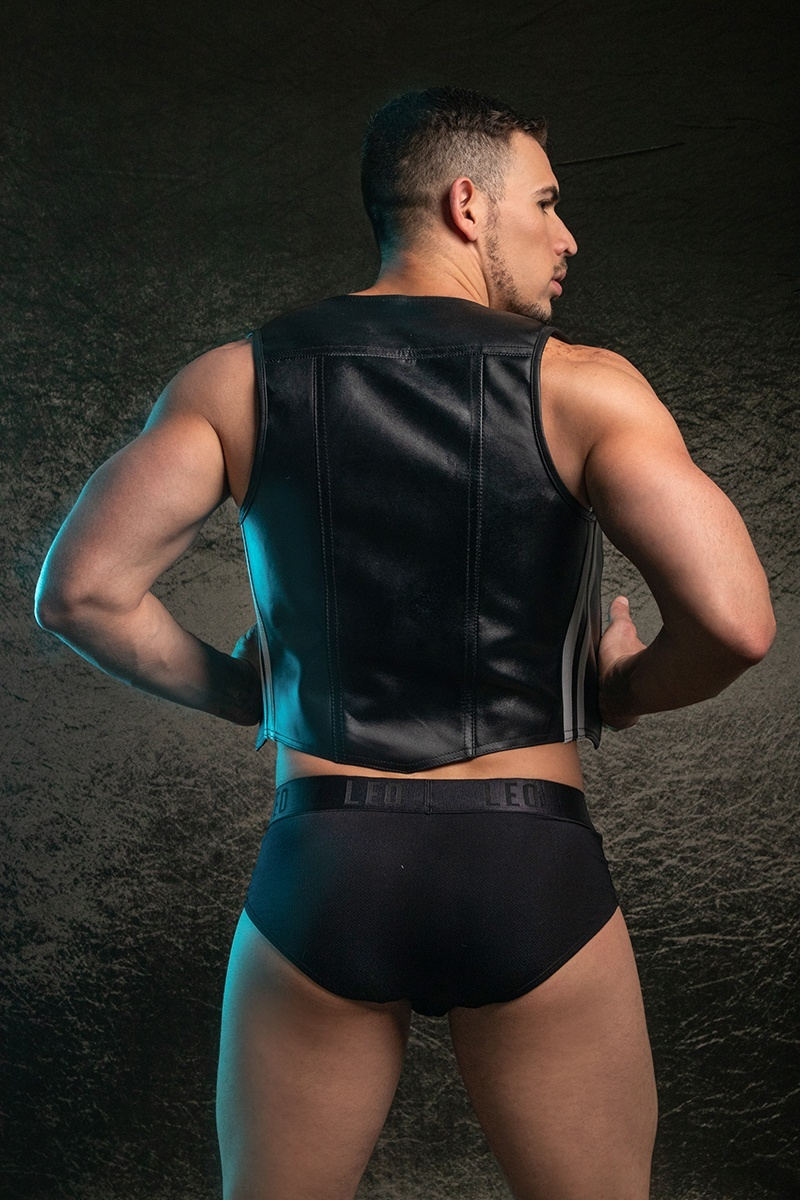 LEATHER VEST HORNY DUDE